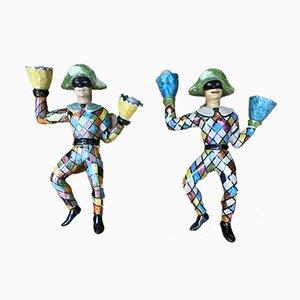 Figurines en Céramique Attribuées à Otello Rosa, 1950s, Set de 2