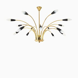 Large Mid-Century Sputnik 16-Light Chandelier