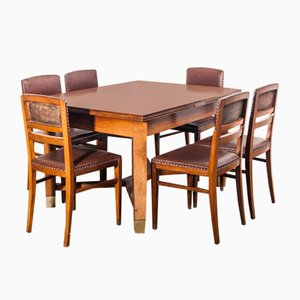Rosewood Dining Table & Chairs Set by Koloman Moser for August Ungethüm, 1904, Set of 7