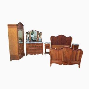 Antikes Walnuss Schlafzimmer Set, 1890er
