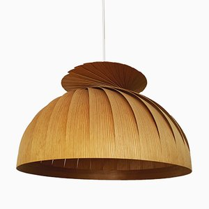 Wooden Ceiling Lamp by Hans-Agne Jakobsson for Hans-Agne Jakobsson AB Markaryd, 1960s