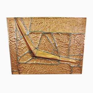 Großes Brutalistisches Wandregal aus Kupfer, 1980er