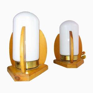 Nordic Rocket Tischlampen, 1950er, 2er Set
