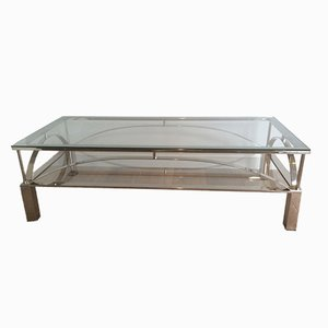 Table Basse Vintage en Chrome
