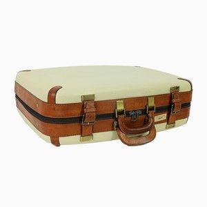 Mid-Century Leather Suitcase