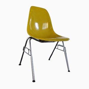 Chaise DSS en Fibre de Verre Jaune par Charles & Ray Eames pour Herman Miller, 1970s