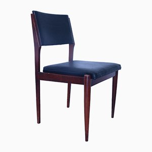 Mid-Century Leatherette Dining Chairs, Set of 6