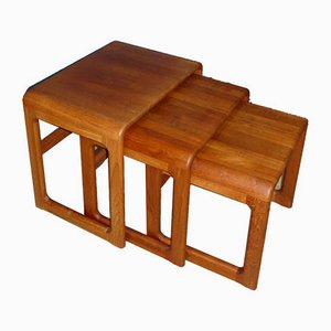 Mid-Century Danish Model 8314 Nesting Tables from Dyrlund