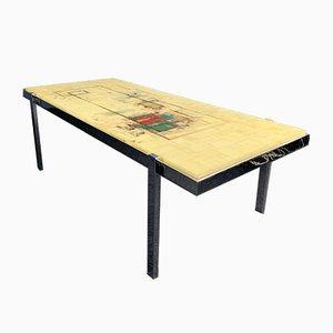 Table Basse avec Plateau en Résine et Cadre en Chrome, Allemagne, 1970s