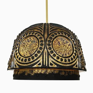 Glass Ceiling Lamp, 1960s