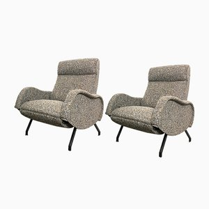 Italian Lounge Chairs by Marco Zanuso, 1950s, Set of 2