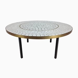Large Round Mosaic Coffee Table by Berthold Muller, 1950s
