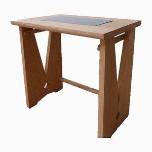 Tavolini Mid-Century in quercia di Guillerme et Chambron, anni '60, set di 2