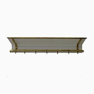 Mid-Century French Rack in Brass and Perforated Sheet, 1950s