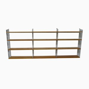 "Mid-Century Modular Shelf in Ash with White Ladders by Kajsa & Nils ""Nisse"" for String"