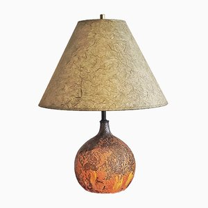 Volcanic Ball Table Lamps, 1960s, Set of 2