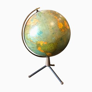 Mid-Century Italian Brass and Bakelite Globe Table Lamp, 1950s
