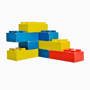 Large Dutch Decorative Lego Cubes, 1960s, Set of 8