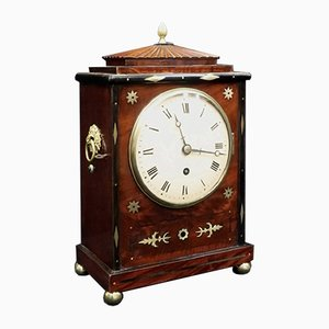 Georgian Mahogany and Brass Inlaid Bracket Clock, 1820s