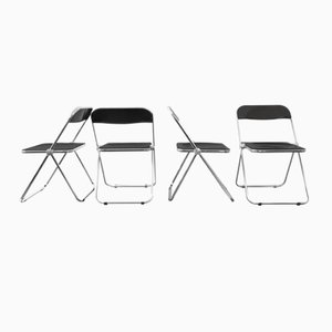 Mid-Century Italian Folding Chairs by Giancarlo Piretti for Castelli / Anonima Castelli, Set of 4