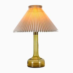 Dänische Deckenlampen aus gelbem Glas von Le Klint für Holmegaard, 1960er, 2er Set