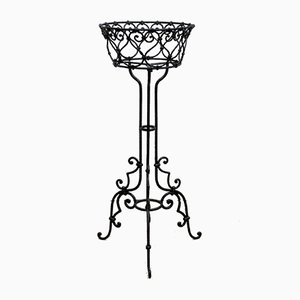 Art Nouveau Wrought Iron Flower Stand, 1900s