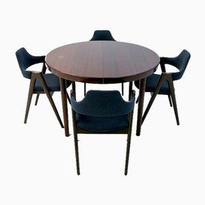 Palisander Esstisch & Stühle Set von Kai Kristiansen, 1960er, 5er Set