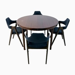 Rosewood Dining Table & Chairs Set by Kai Kristiansen, 1960s, Set of 5