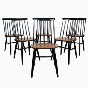 Fanett Dining Chairs by Illmari Tapiovaara for Edsby Verken, 1960s, Set of 6
