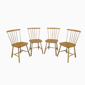 Mid Century Danish Kitchen Chairs from Fastrup, 1960s, Set of 4
