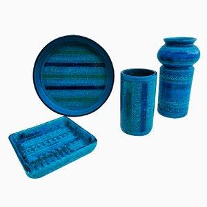 Ceramics Set by Aldo Londi for Bitossi, 1960s