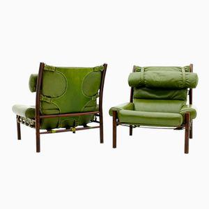 Vintage Inca Lounge Stuhl von Arne Norell, 2er Set