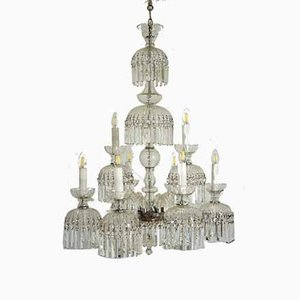 Vintage Crystal Chandelier with 8 Lights, 1950s