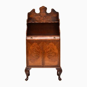 Burl Walnut Bookcase Cabinet, 1930s