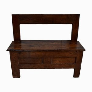 19th Century Chestnut Fireplace Bench or Chest