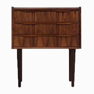 Small Mid-Century Danish Rosewood Chest of Drawers with Round Legs