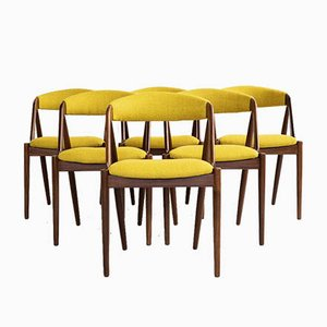 Chaises de Salon Mid-Century en Teck par Kai Kristiansen, Danemark, Set de 6