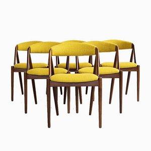 Dänische Mid-Century Esszimmerstühle aus Teak von Kai Kristiansen, 6er Set