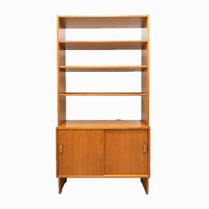 Vintage Swedish Teak Freestanding Shelving Bookcase Unit