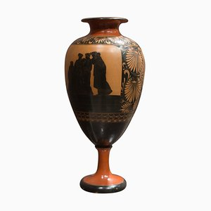 Large Neoclassical Redware Terracotta Vase Attributed to Giustiniani, 1840s