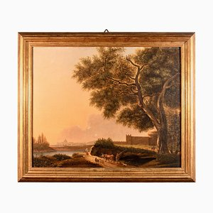 Antique Van Lint School Grand Tour Rectangular Oil on Canvas