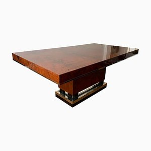 Art Deco Dining Room Table in Walnut Roots, Southern France, 1930s