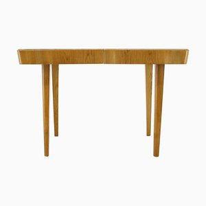 Oak Extendable Dining Table, Czechoslovakia, 1940s