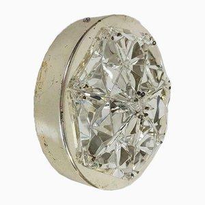 Vintage Eclectic Kinkeldey Chrome Crystal Sconce, 1970s