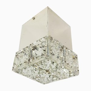 Vintage Eclectic Chrome Crystal Ceiling Lamp from Kinkeldey