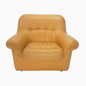 Vintage Cognac Leather Lounge Chair