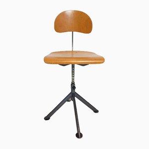 Industrieller Vintage Werkstatt Stuhl aus Holz von Odelberg & Olson