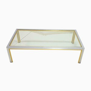 Vintage Hollywood Regency Brass Coffee Table by Renato Zevi