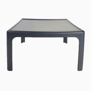 Table Basse Vintage Noire par Peter Ghyczy pour Horn Collection