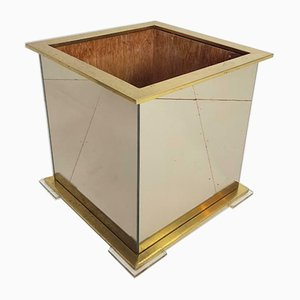 Vintage Plexiglas and Brass Planter from Belgo Chrom , 1970s